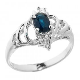 0.5ct Sapphire Ring in Sterling Silver