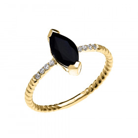 1.0ct Sapphire Rope Design Promise Twisted Rope Ring in 9ct Gold