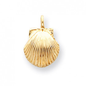 Seashell Charm Pendant Necklace in 9ct Gold