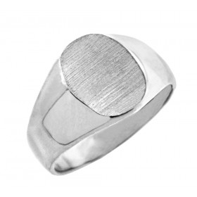 Signet Ring in 9ct White Gold