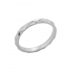 Stackable Textured Spike Ring in 9ct White Gold