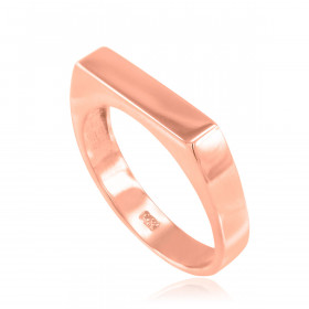 Stackable Unisex Signet Ring in 9ct Rose Gold