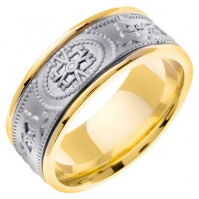 Symbol Celtic Wedding Ring in 9ct Two-Tone Gold