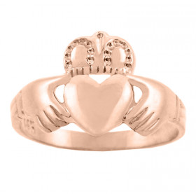 Traditional Claddagh Ring in 9ct Rose Gold