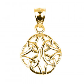 Trinity Knot Charm Pendant Necklace in 9ct Gold