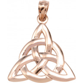 Trinity Knot Charm Pendant Necklace in 9ct Rose Gold