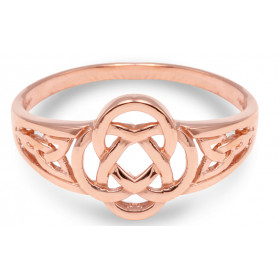 Trinity Knot Ring in 9ct Rose Gold