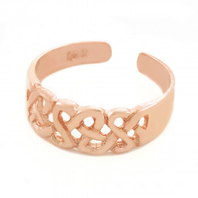 Trinity Knot Toe Ring in 9ct Rose Gold