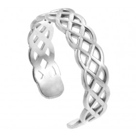 Trinity Knot Toe Ring in 9ct White Gold
