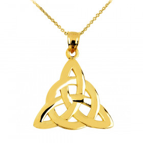 Trinity Pendant Necklace in 9ct Gold