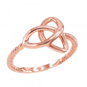 Trinity Ring in 9ct Rose Gold