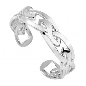 Trinity Toe Ring in 9ct White Gold