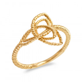 Triquetra Knot Promise Twisted Rope Engagement Ring in 9ct Gold
