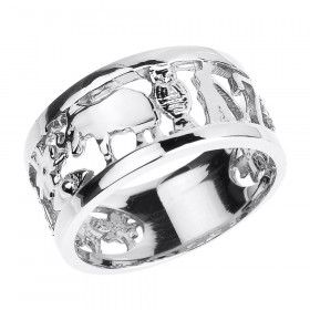 Unisex Lucky Ring in 9ct White Gold