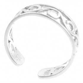 Wave Toe Ring in 9ct White Gold