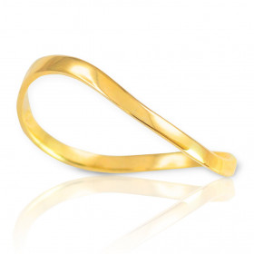 Wavy Thumb Ring in 9ct Gold