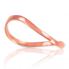 Wavy Thumb Ring in 9ct Rose Gold