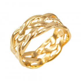 Weave Decorative Wedding Ring in 9ct Gold