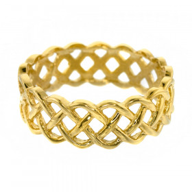 Weave Wedding Ring in 9ct Gold