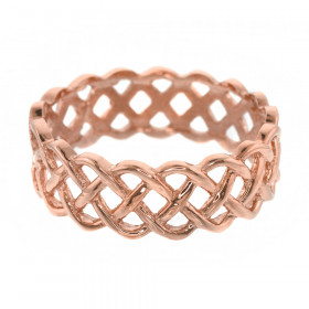 Weave Wedding Ring in 9ct Rose Gold