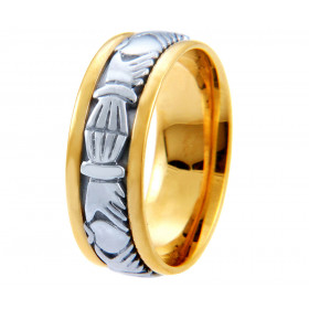 Wedding Ring in 9ct Two-Tone Gold