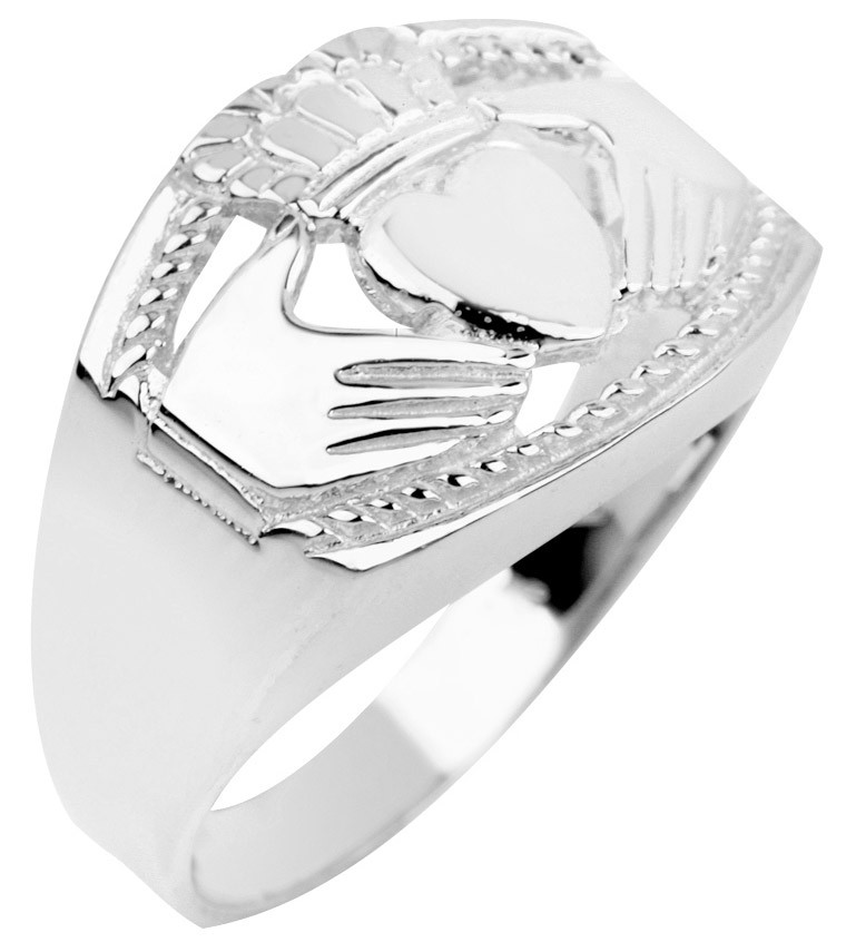 gold silver jewellery s bold claddagh ring