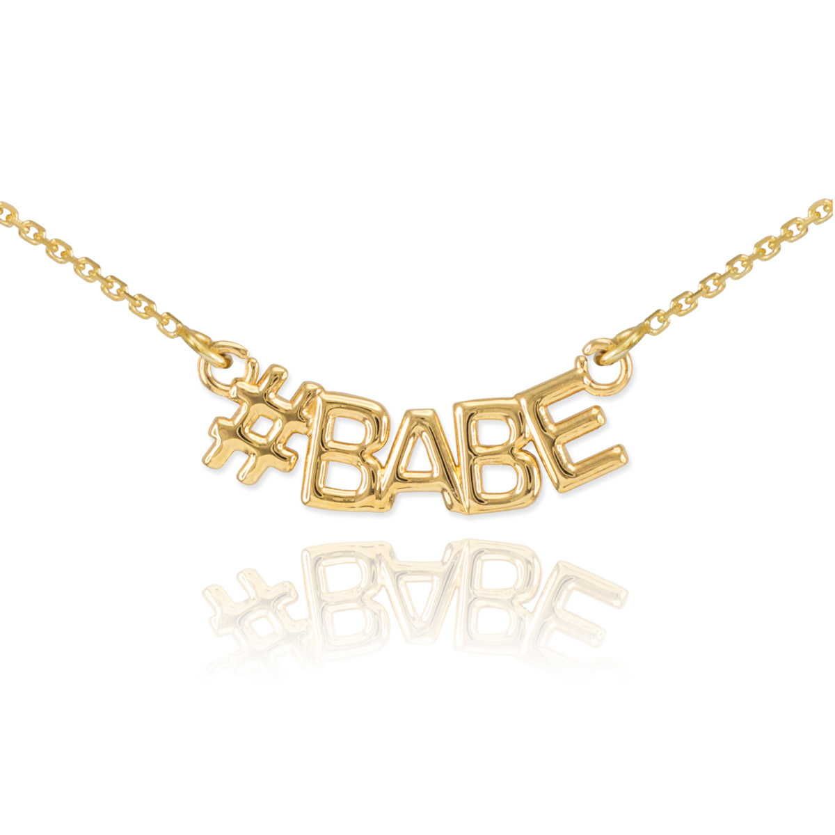 #babe Pendant Necklace In 9ct Gold