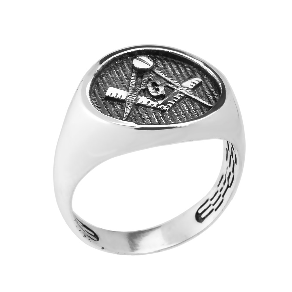 black com freemason face jewelry masonic dp freemasons steel free amazon rings with masonry chiseled round s ring member mens stainless