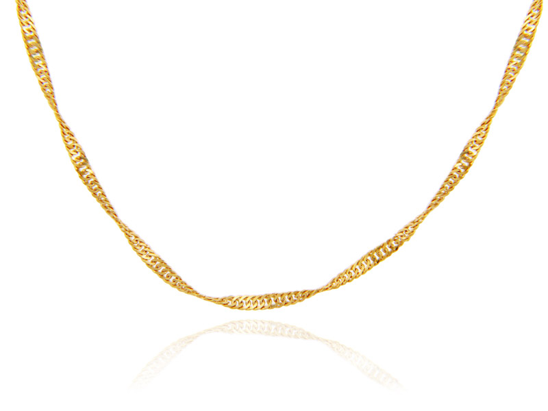 0.25mm Singapore Chain in 14K Gold
