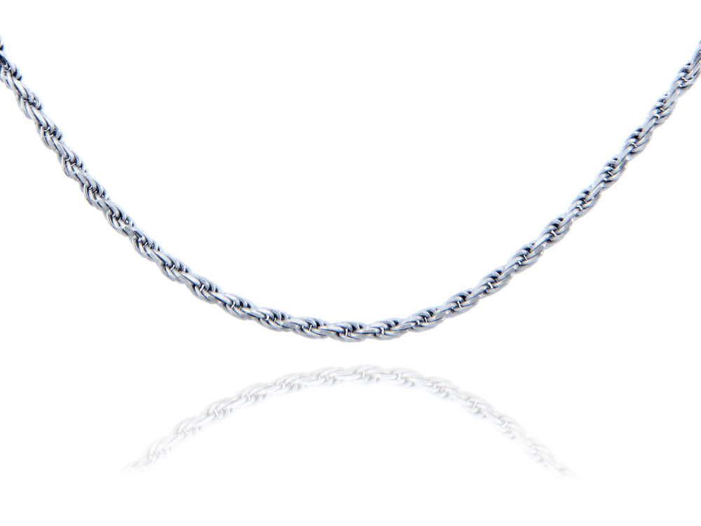 1.25mm Rope Chain in Sterling Silver