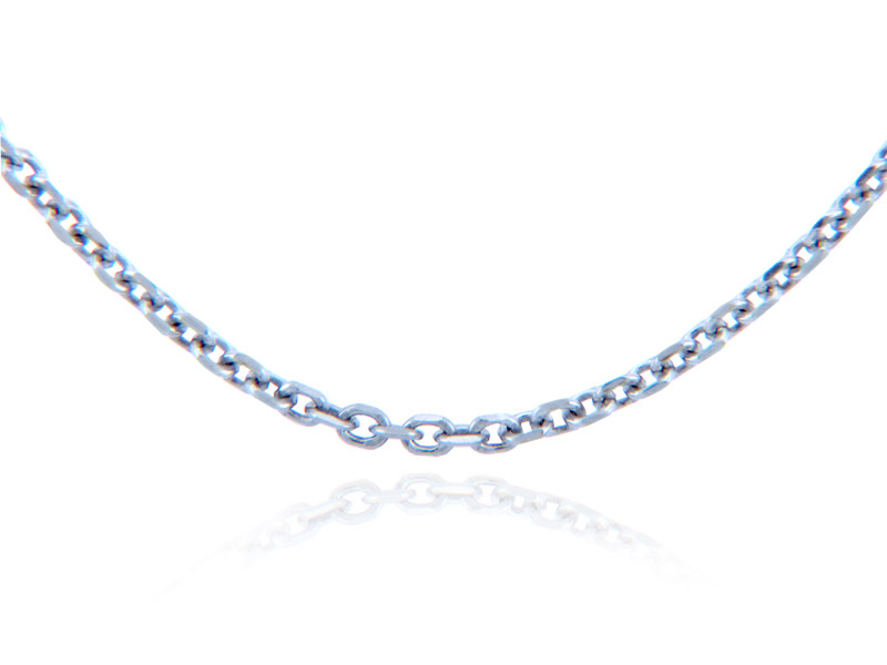 1.38mm Rolo Chain in 14K White Gold