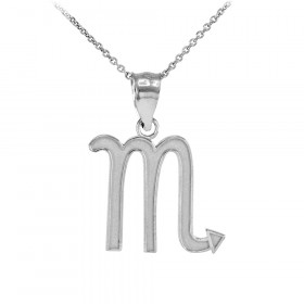 Scorpio necklaces pendants gold boutique scorpio zodiac pendant necklace in sterling silver mozeypictures Images