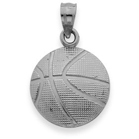 Basketball pendant necklace in sterling silver gold boutique gold boutique basketball pendant necklace in sterling silver mozeypictures Images