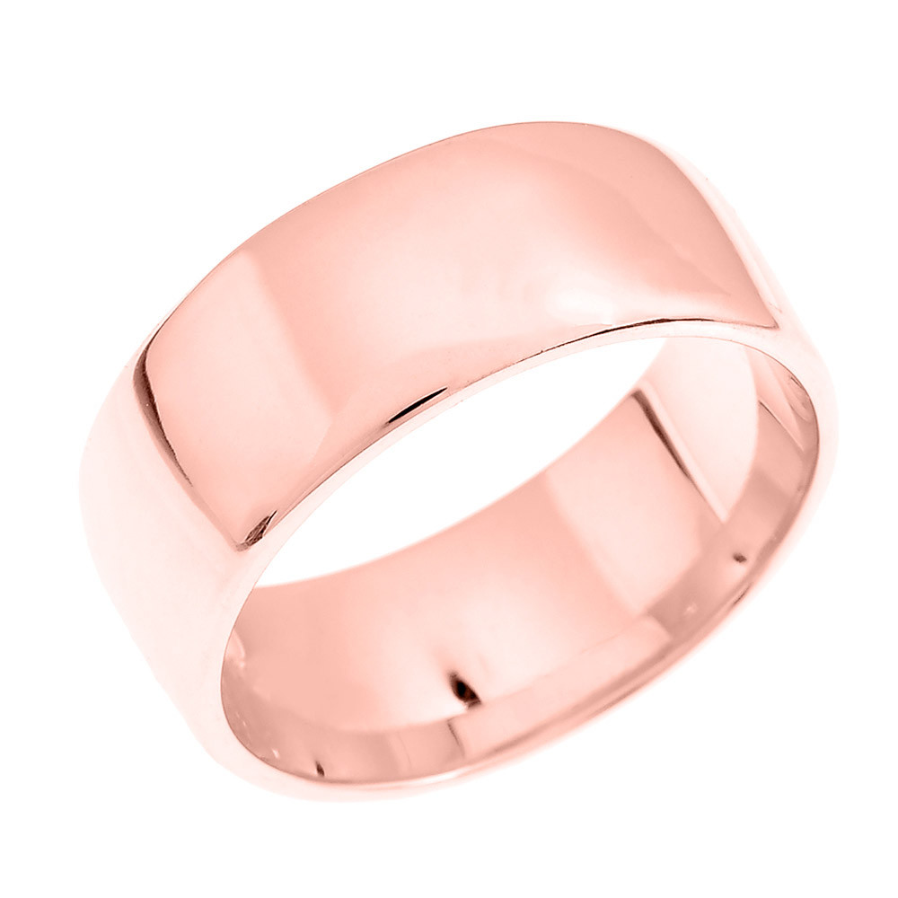 Comfort Fit Classic Plain Wedding Ring in 9ct Rose Gold   Gold Boutique