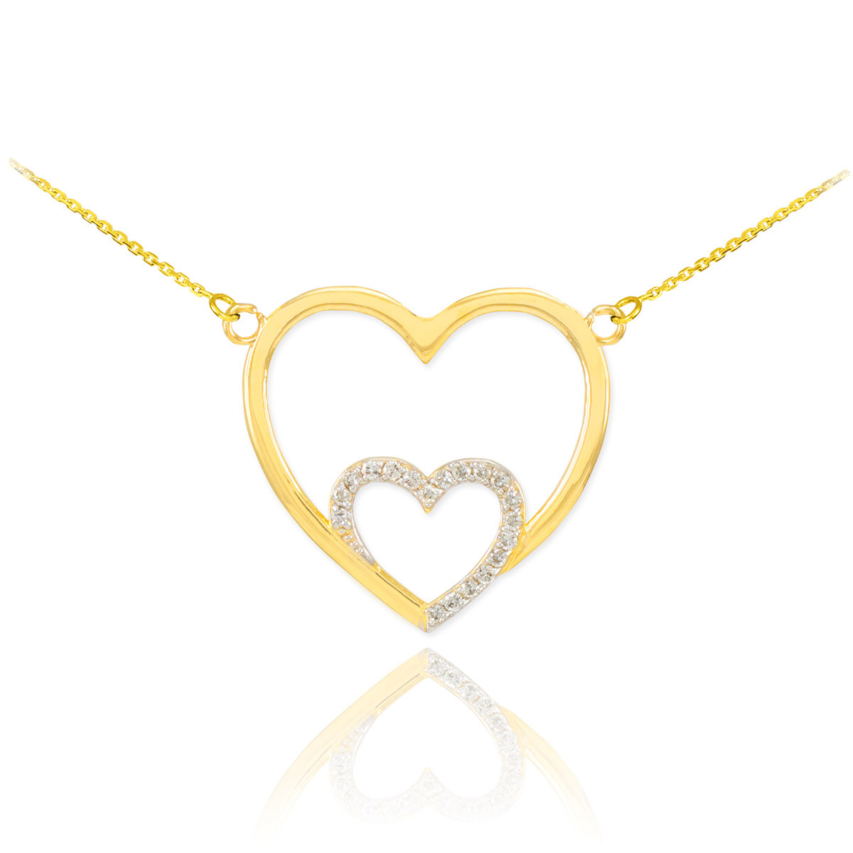 Diamond double heart pendant necklace in 9ct gold gold boutique diamond pendant necklace in solid 9ct yellow gold gb57106y 614 instock httpsgoldboutiquediamond double heart pendant necklace in gold gb57106y mozeypictures Choice Image