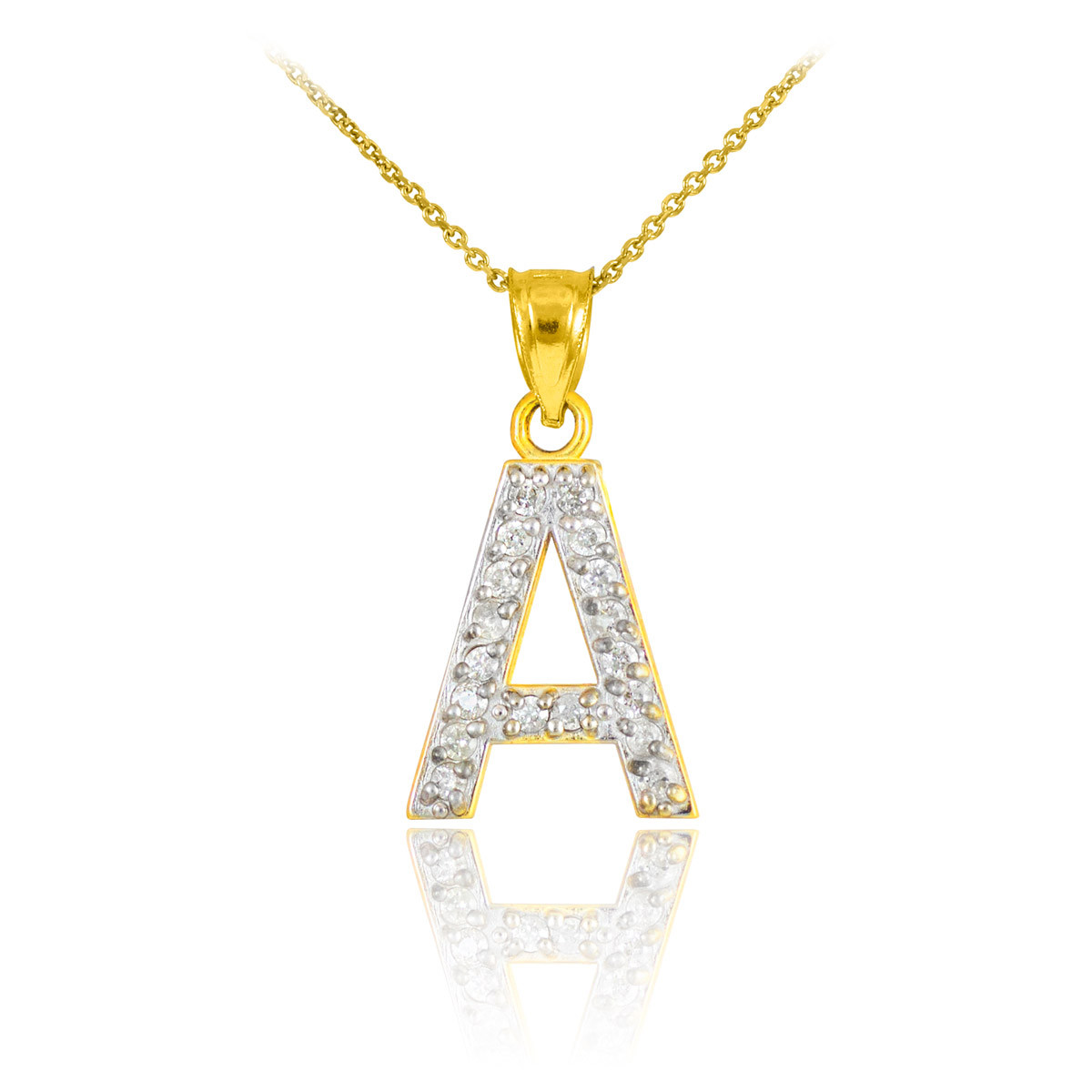 diamond letter necklace letter a pendant necklace in 9ct gold gold boutique 21360