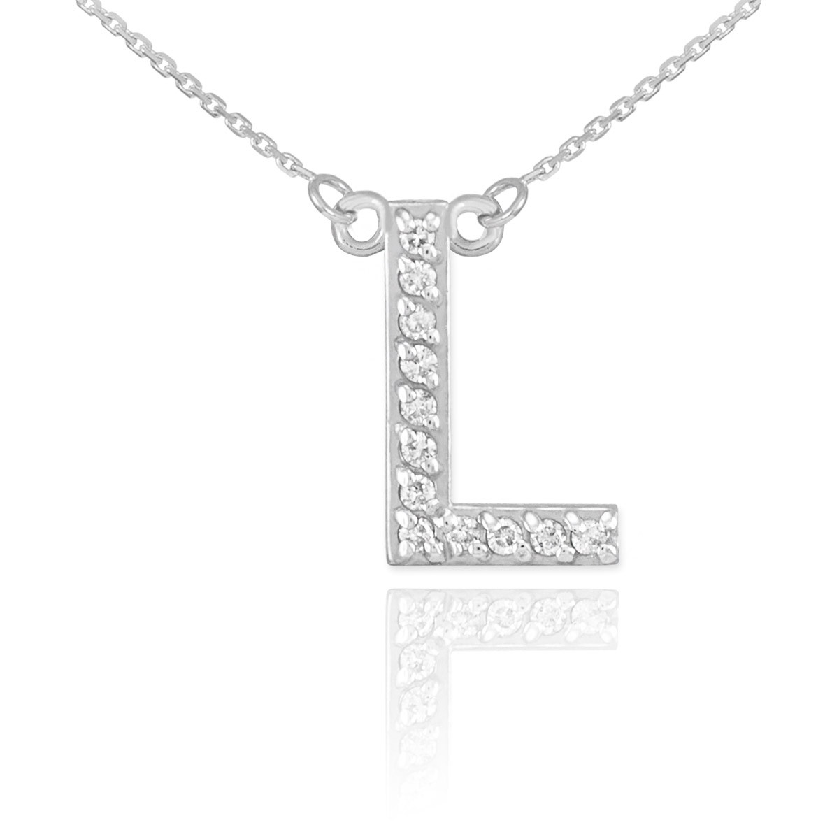 Diamond letter l pendant necklace in 9ct white gold gold boutique gb57405w 593 instock httpsgoldboutiquediamond letter l pendant necklace in white gold gb57405w gold boutique mozeypictures Choice Image