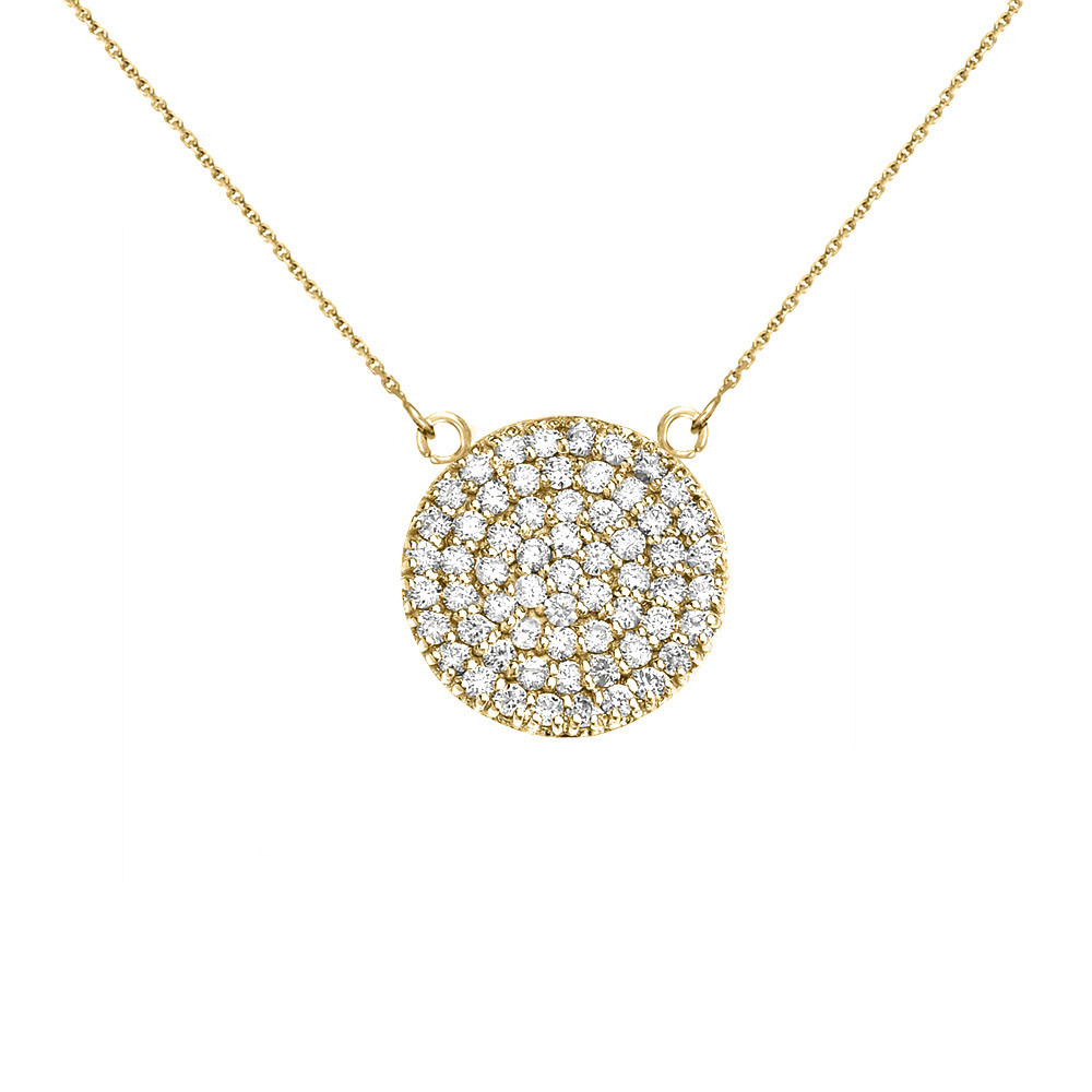 84c37f494 Gold Boutique 0.5ct Diamond Micro-Pave Circle Pendant Necklace in 9ct Gold  Diamond pendant necklace in solid 9ct yellow gold.
