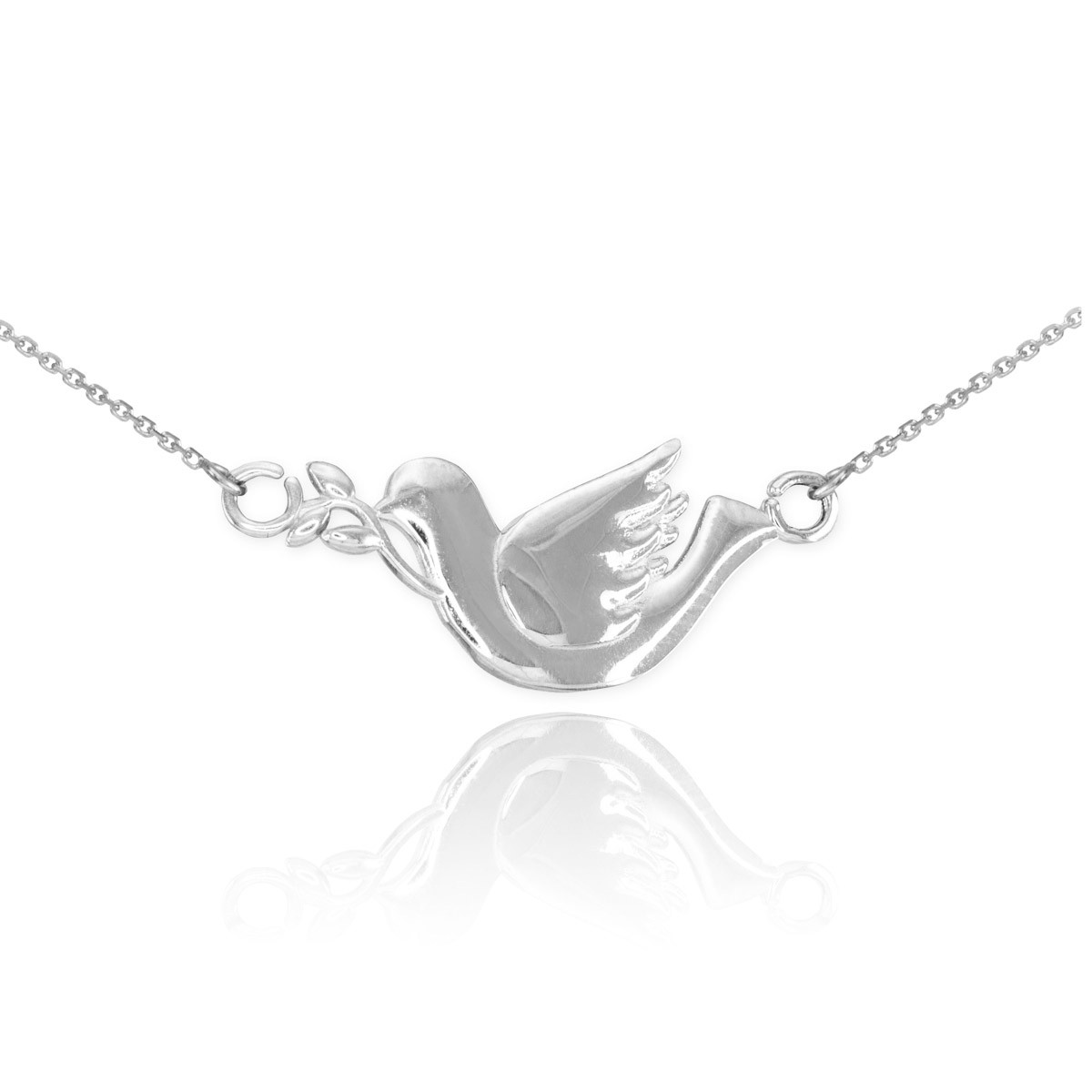 Dove pendant necklace in sterling silver gold boutique pendant necklace in solid 925 sterling silver gb58383s 52 instock httpsgoldboutiquedove pendant necklace in sterling silver gb58383s mozeypictures Images