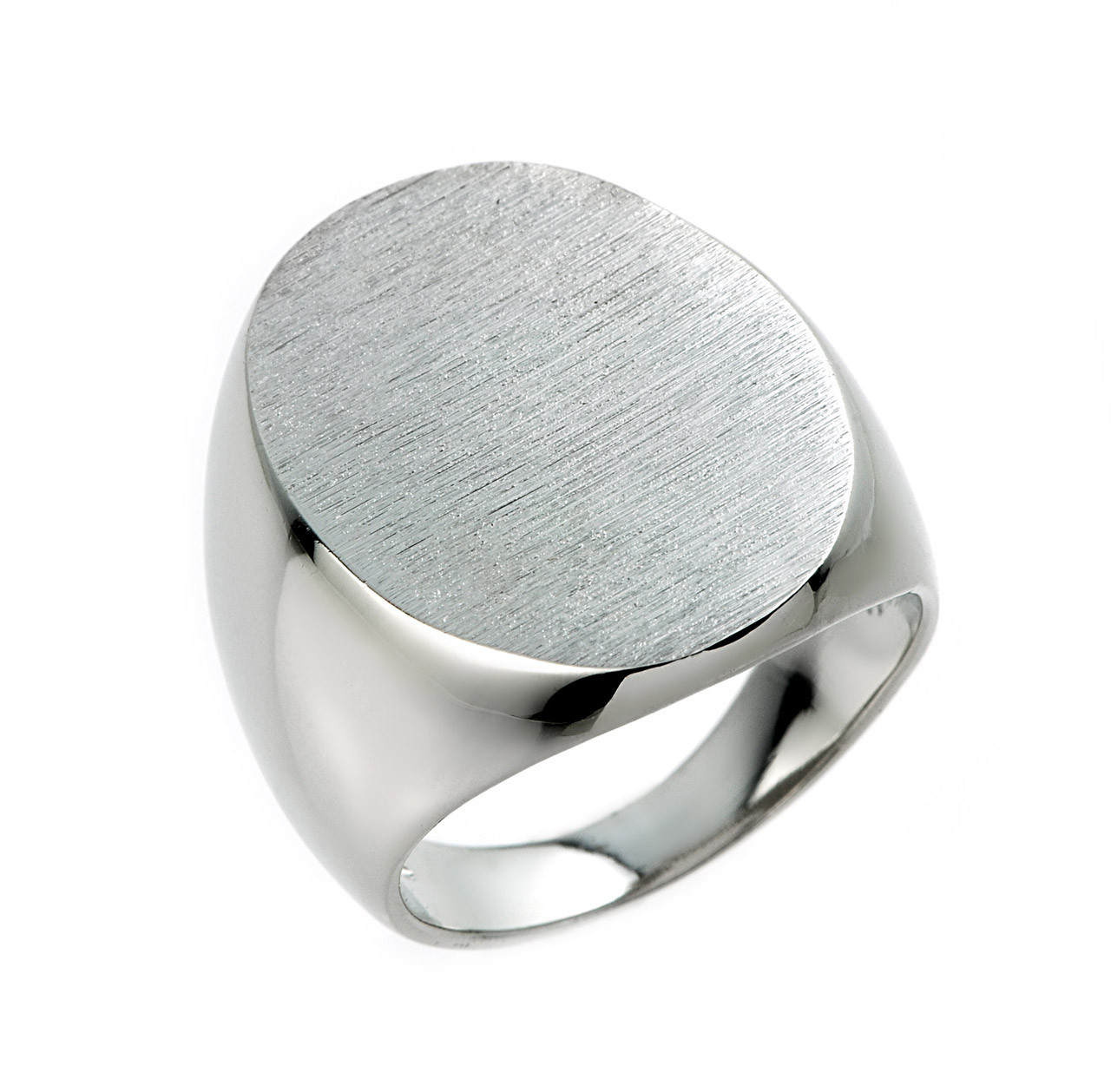 8f6ddf6a821 Men's Large Oval Signet Ring in Sterling Silver
