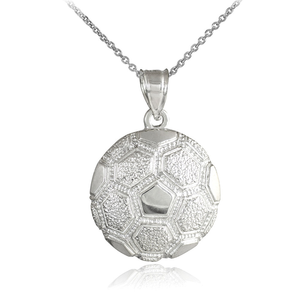 football charms necklace and sports custom carat jewelry