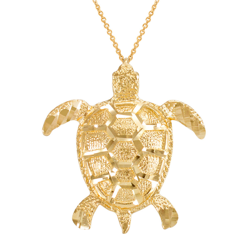 Textured style sea turtle pendant necklace in 9ct gold gold boutique gold boutique textured style sea turtle pendant necklace in 9ct gold mozeypictures Images