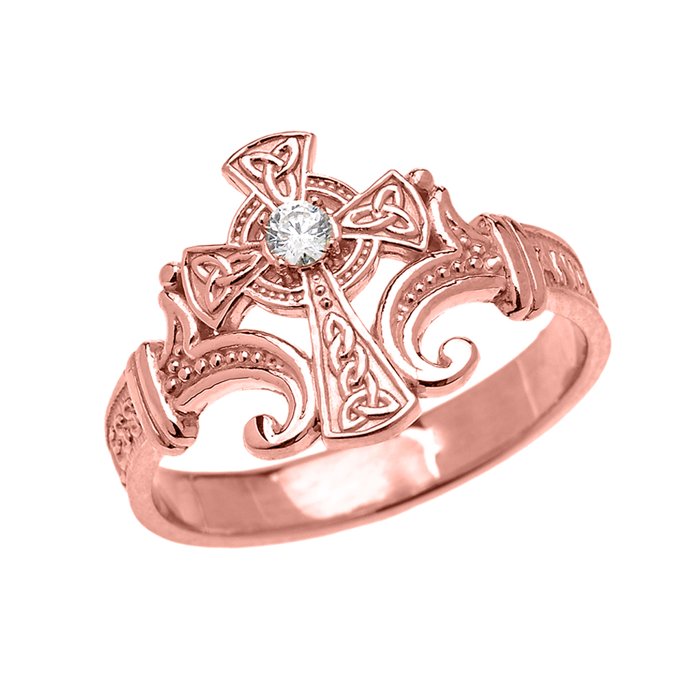 0.05ct Encrypted Prayer Ring in 14K Rose Gold