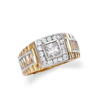 Men's CZ Ring in 9ct Gold