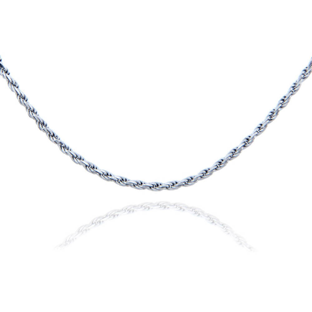 3mm Rope Chain in Sterling Silver