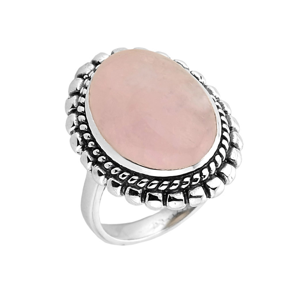 Bezel Set Morganite Ring in Sterling Silver | Gold Boutique