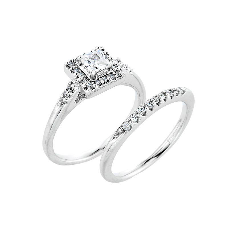 rings bridal matching ring channel engagement white set ct diamond and tw gold wedding sets band in preset