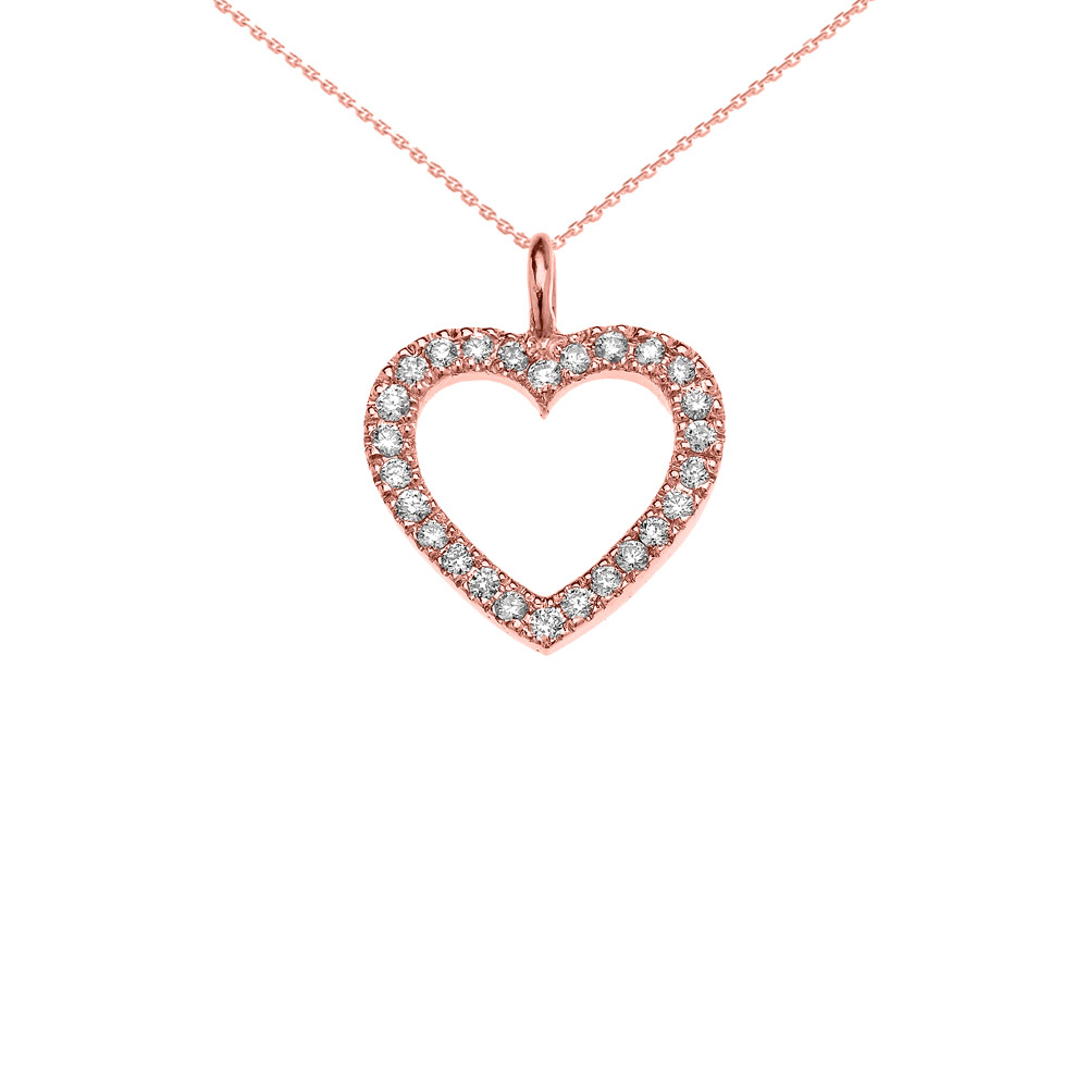 sterling chain silver designer necklace dp open heart pendant inch inspired