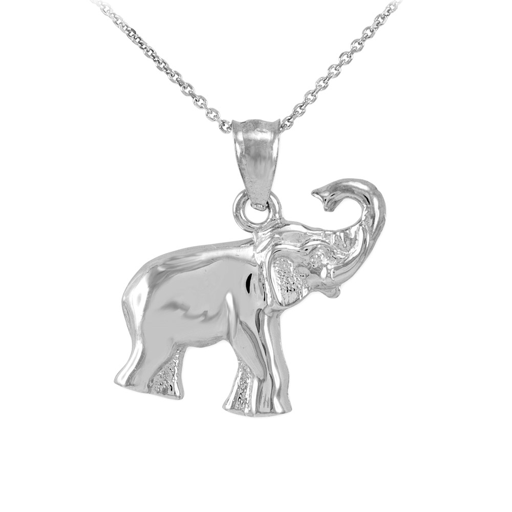 Solid 9ct Yellow Gold Elephant Charm BjcTt