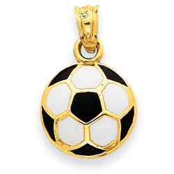 Enameled football pendant necklace in 9ct gold gold boutique enameled football pendant necklace in 9ct gold aloadofball Image collections